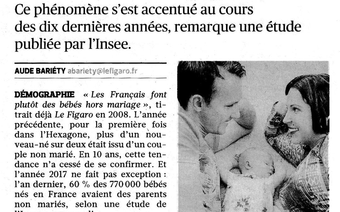 En 2017, 6 bébés sur 10 sont nés hors mariage en France